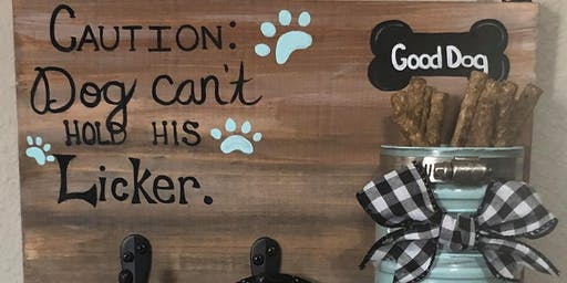 Pet DIY Leash Sign at Barrel and Keg