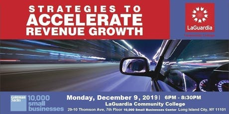 Strategies to Accelerate Revenue Growth @LaGuardia tickets