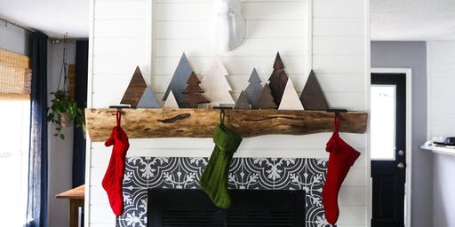 Pine Tree Mantle Decor