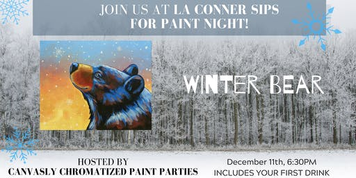 Winter Bear Paint & Sip @ La Conner Sips