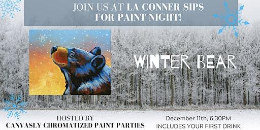 Winter Bear Paint & Sip @ La Conner Sips