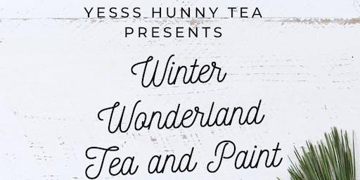 Winter Wonderland Tea and Paint
