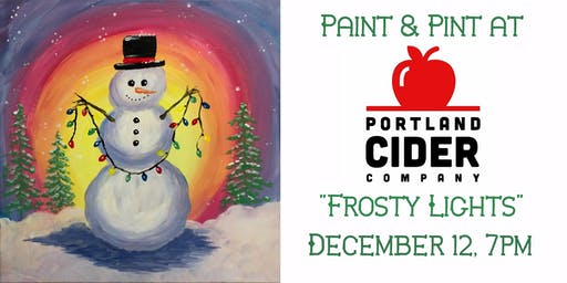Paint & Pint 'Frosty Lights' at Portland Cider Co