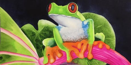 Splash Watercolor Class - Pondering Frog  tickets