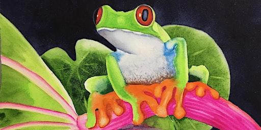 Splash Watercolor Class - Pondering Frog