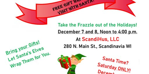 3rd Annual Free Gift Wrapping and Photo Opp with Santa