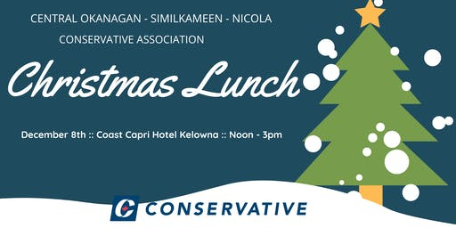 Christmas Luncheon featuring Tom Kmiec MP Calgary Shepard