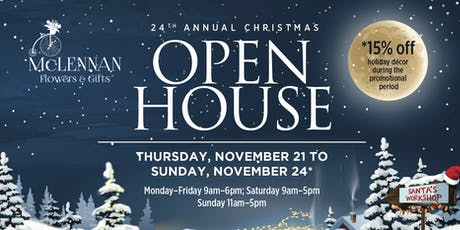 24th Annual Christmas Open House tickets