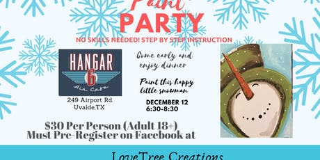Paint Party at Hangar 6 air Cafe tickets