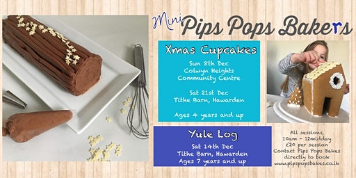 Yule Log with Pips Pops Bakes