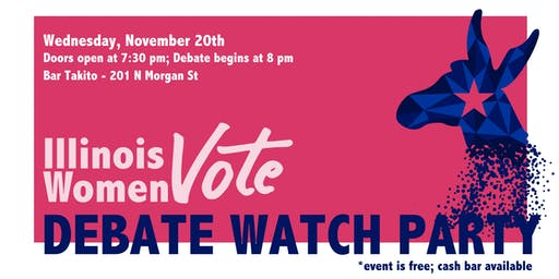 Illinois Women Vote Democratic Debate Watch Party