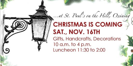 Christmas is Coming Sale and Luncheon