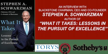 An Interview with  Stephen A. Schwarzman tickets