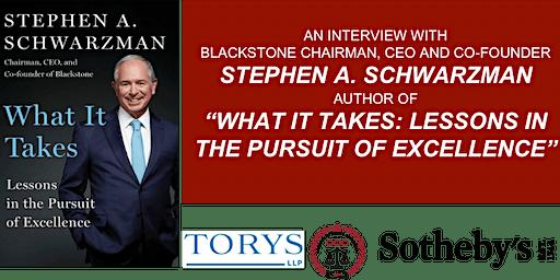 An Interview with  Stephen A. Schwarzman