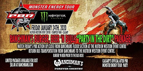 "Ranchman's Burger, Beer N' Bulls ""Party In The Dirt"" Package! tickets"