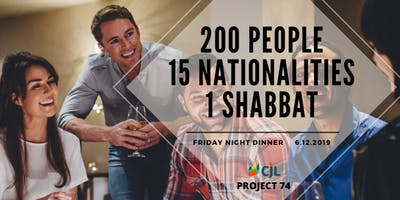 Legendary Friday Night Dinner - 200 People 15 Nationalities 1 Shabbat