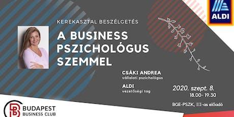 A business pszichológus szemmel tickets