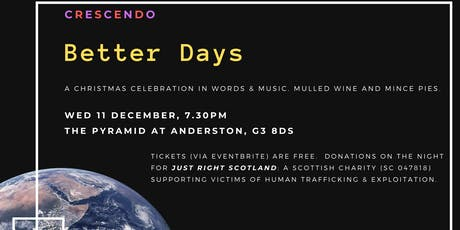 Better Days: a Christmas celebration in words and music tickets