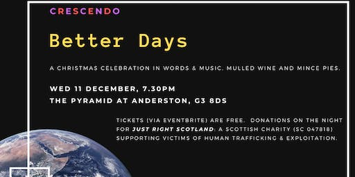 Better Days: a Christmas celebration in words and music