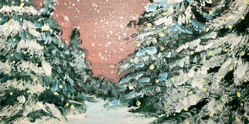 Family Paint Night- Winter Forest