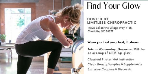 Find Your Glow (FREE PILATES EVENT)