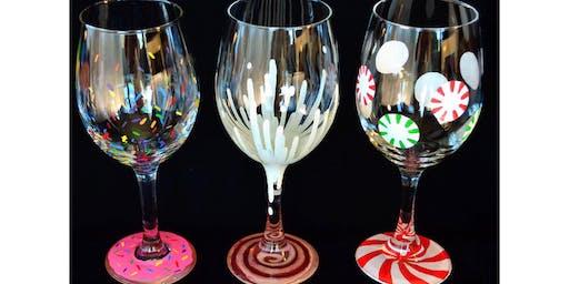 "Adult Open Paint (18yrs+) ""Sugar & Spice Dessert Glasses"