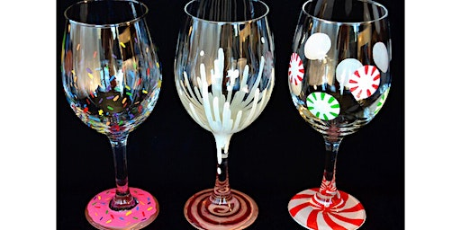 "Adult Open Paint (18yrs+) ""Sugar & Spice Dessert Glasses"