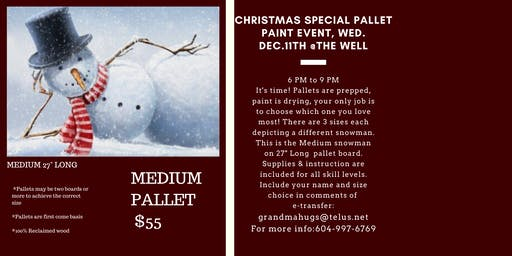Christmas Pallet Paint Night