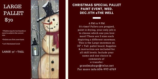 Christmas Special Pallet Paint Nite