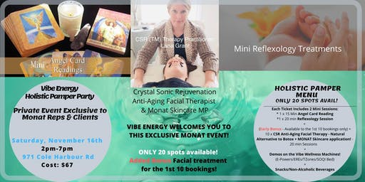 Vibe Energy Holistic Pamper Party ~ Exclusive to MONAT Reps & Clients!