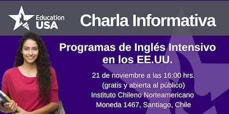 Charla de Programas Inglés Intensivo Noviembre 2019 entradas