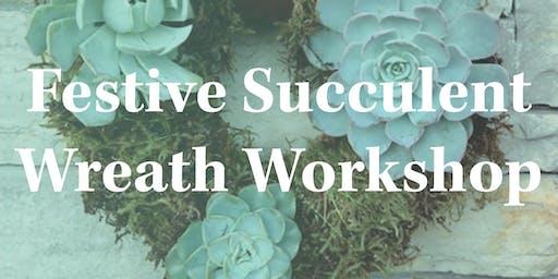 Festive Succulent Wreath Workshop