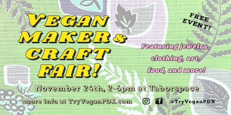 Vegan Maker & Craft Fair tickets