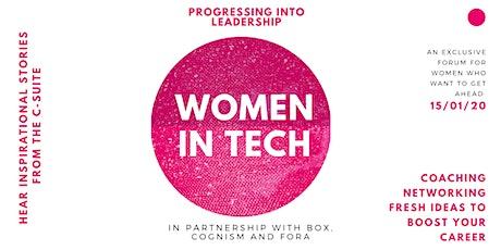 Women in Tech: Progressing into Leadership tickets