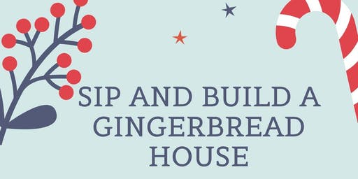 Sip and build a gingerbread house