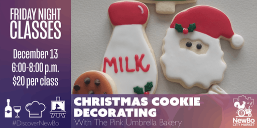 Christmas Cookie Decorating Class with The Pink Umbrella Bakery