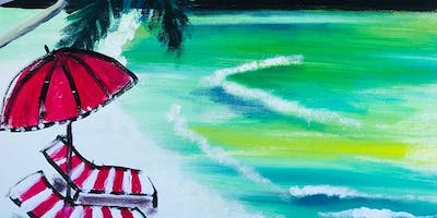 Paint Night in Canberra: At the Beach