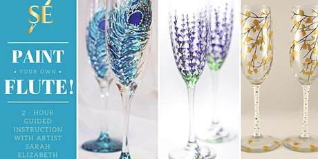 Paint & Sip: Paint Your Own Champagne Flute! tickets