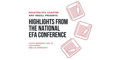 Amy Megill presents: Highlights from the EFA Conference