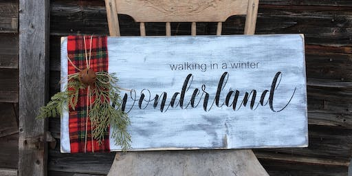 DIY Holiday Sign Event Dec 4th - Perfect Storm Worlds/Summit Teams