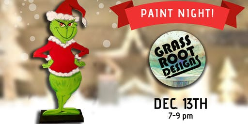 Standing Grinch Figurine | Paint Night!