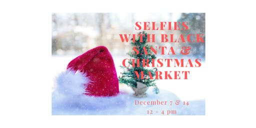 Selfies with Black Santa and Christmas Market