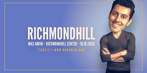 Max Amini Live in Richmondhill - 2020 World-tour **7PM SHOWTIME**
