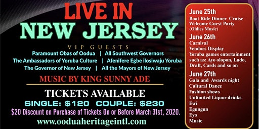 Oodua Heritage  Cruise, Carnival, Gala, and Awards Night