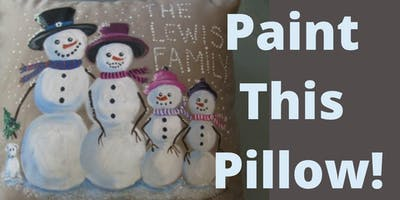 Paint a Snow Family Pillow!