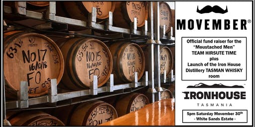 MOVEMBER Fundraiser - Iron House Whisky Room/New Beer Launch & Shave Off