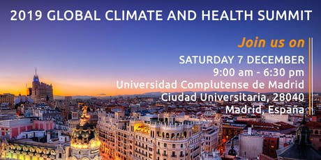 Cumbre Global sobre Clima y Salud / Global Climate and Health Summit tickets