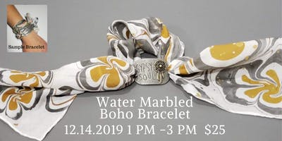 Learn to Make  a Water Marbled Boho Bracelet