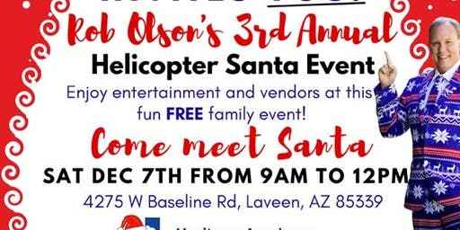 3rd Annual Santa Helicopter Drop
