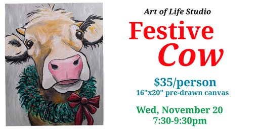 Paint Night: Festive Cow